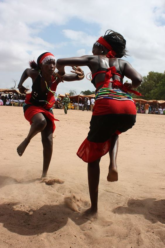 Kim Canales Dancing women in Gambia