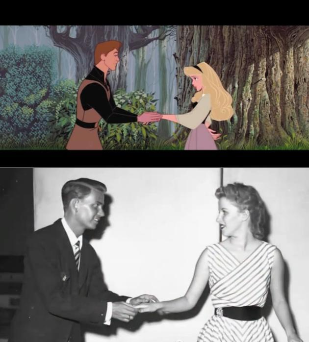 "sidereusgenus: ""Sleeping Beauty Bill Shirley (The voice of Prince Phillip) and Mary Costa (The voice of Princess Aurora) """