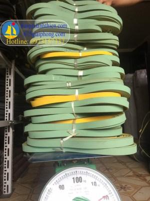 đai dẹt xanh nhạt vàng 4mm, 3mm