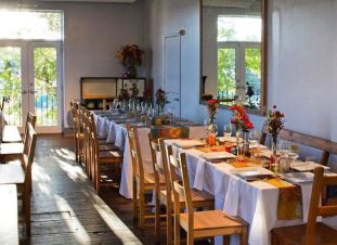 """For small parties, you can host events in our """"Gathering Room"""" - call 828.252.1500 to ask about catering options"""