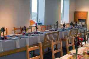 Picture of Gathering Room Setup for Dinner by 67 Biltmore Downtown Eatery and Catering in Asheville, NC