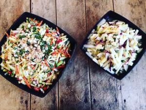 Picture of two types of slaw by 67 Biltmore Downtown Eatery and Catering in Asheville, NC