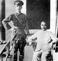 孫文(右)と蒋介石