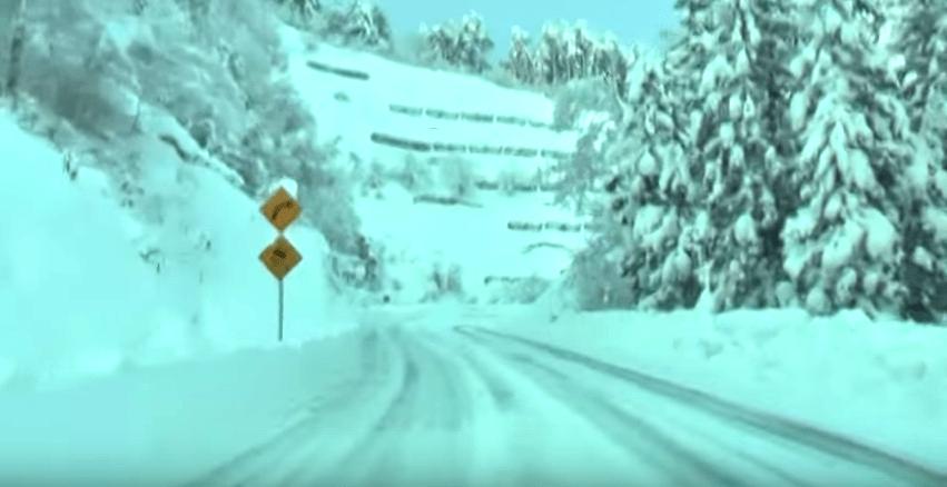 卯の花雪道
