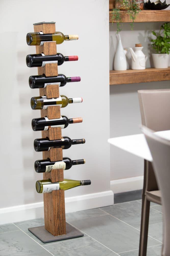 armstrong industrial design wood wine rack floor standing