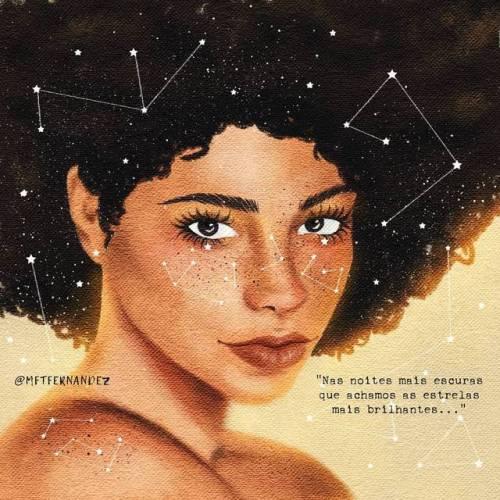 """""""Somos feitos de poeira de estrelas…"""" (Carl Sagan) ✨ #7diascolorafro 💚 Fotografia: @zavierdeangelo 📷 + em www.instagram.com/mftfernandez"""