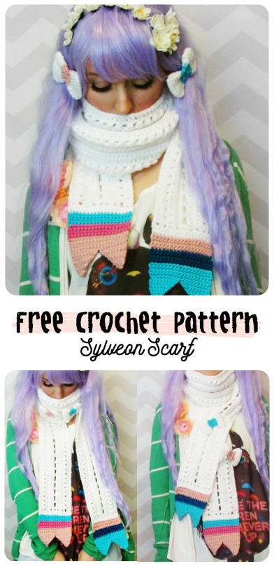free crochet pattern sylveon scarf pokemon