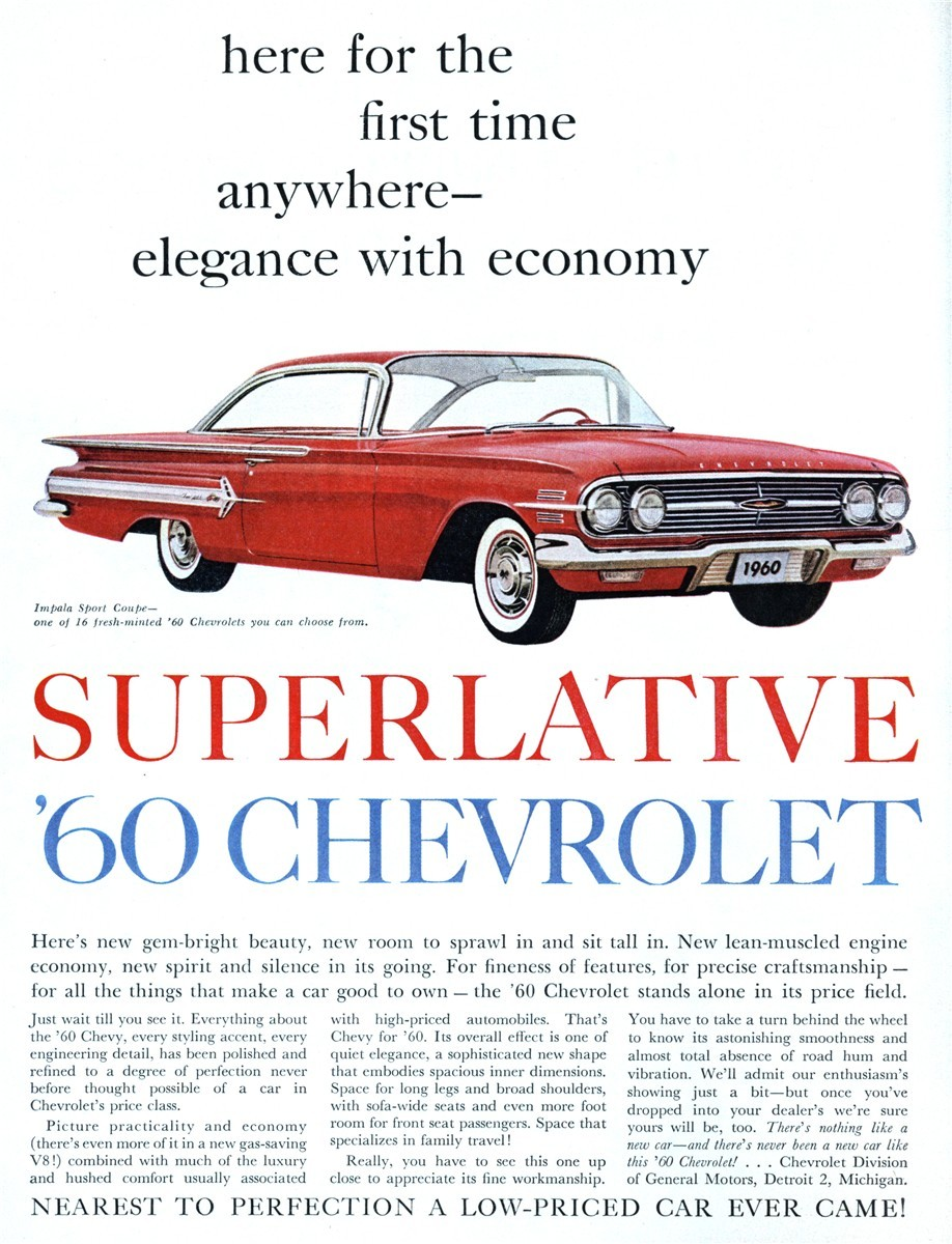 1960 Chevrolet Impala Sport Coupe - published in Farm Journal - November 1959