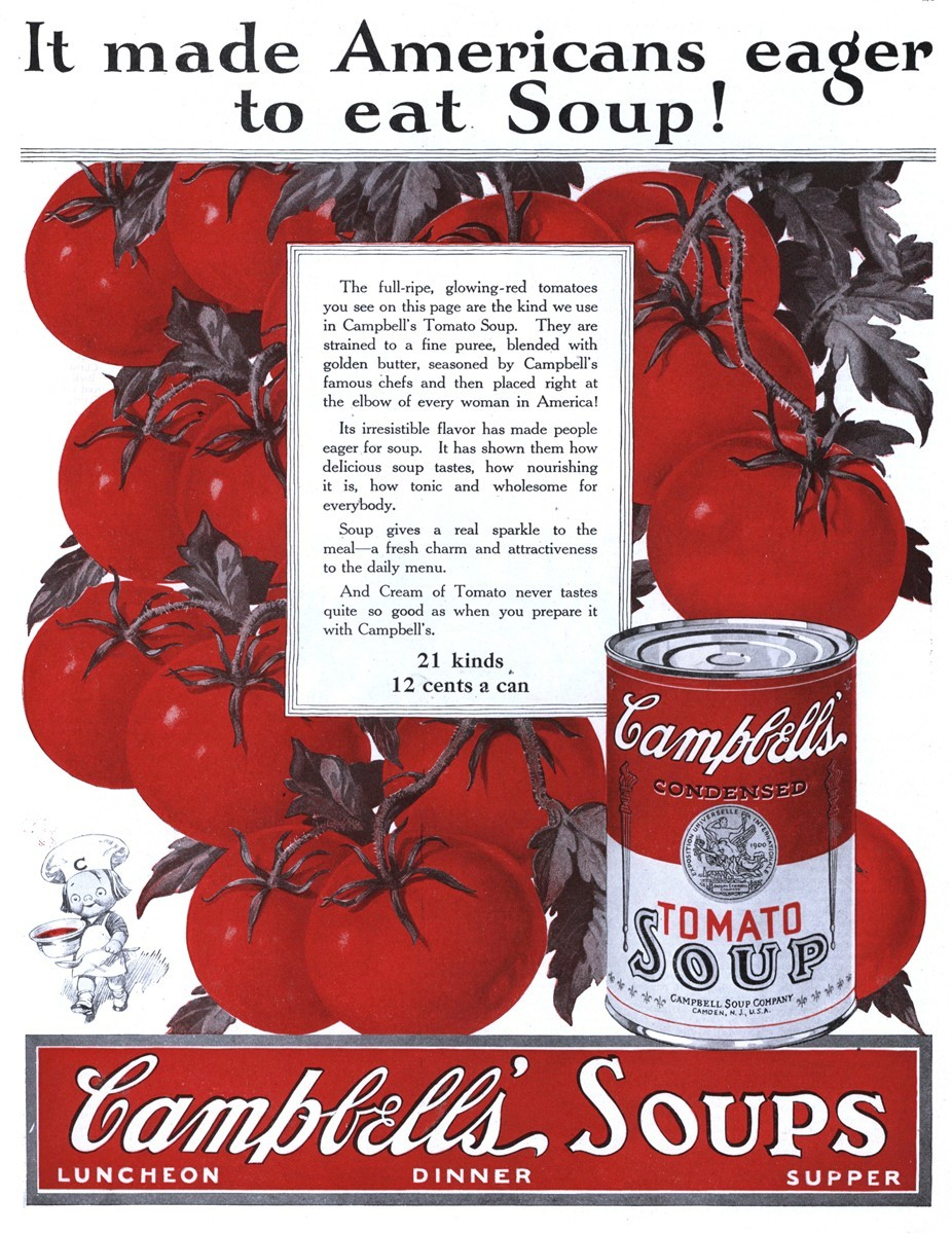 Campbell's Soup - published in McCall's - April 1925