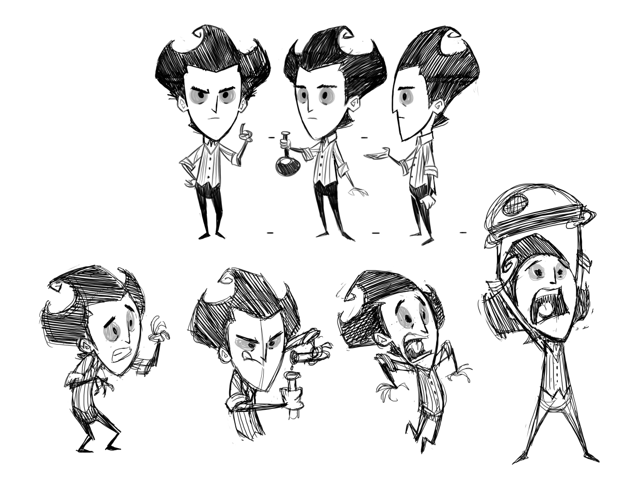 Jeff Agala Poses For The Short We Did For Don T Starve