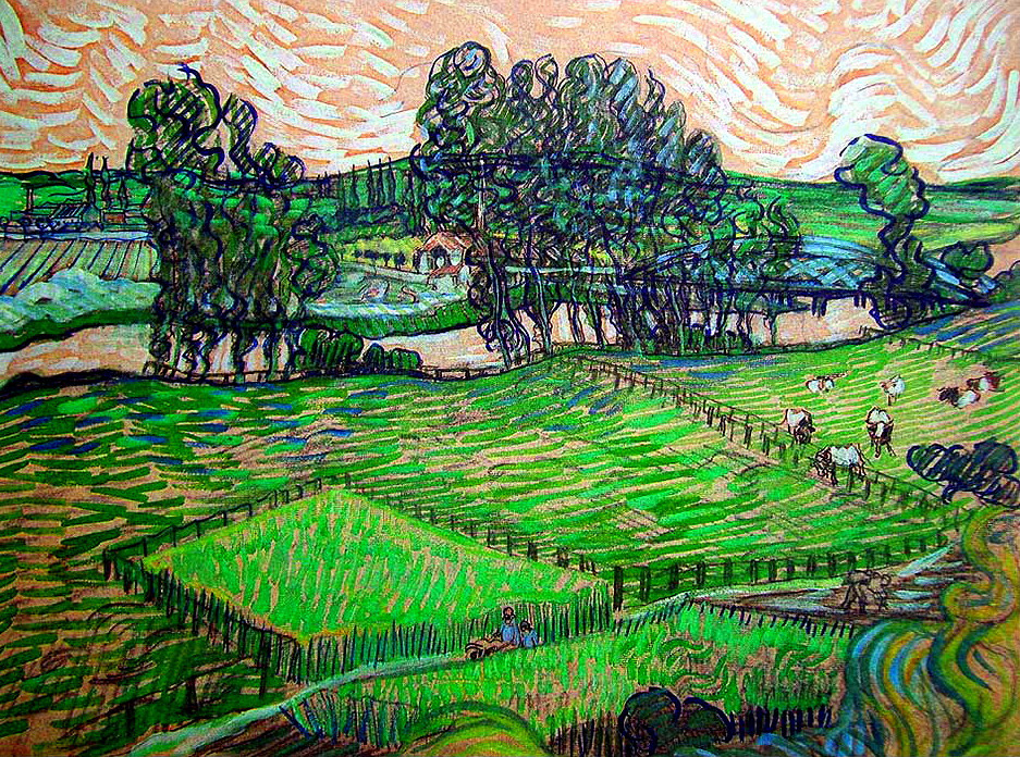 "dappledwithshadow: "" The Oise at Auvers, Vincent van Gogh 1888 """