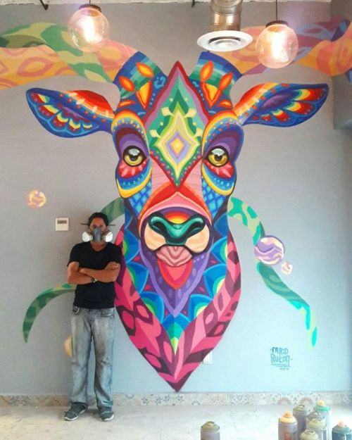 coloursxart:  Venado Azul by Farid Rueda - Located in MexicoCiudad de México, 2016