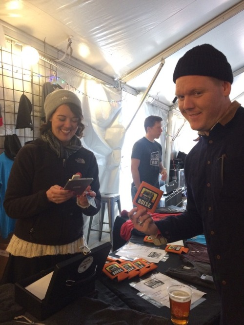 The Radio Boise merch is flying of the the table. Super volunteer Valarie is such a cutie! -lr