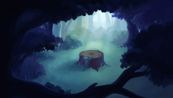 Commissioned backgrounds for a project from a while back!