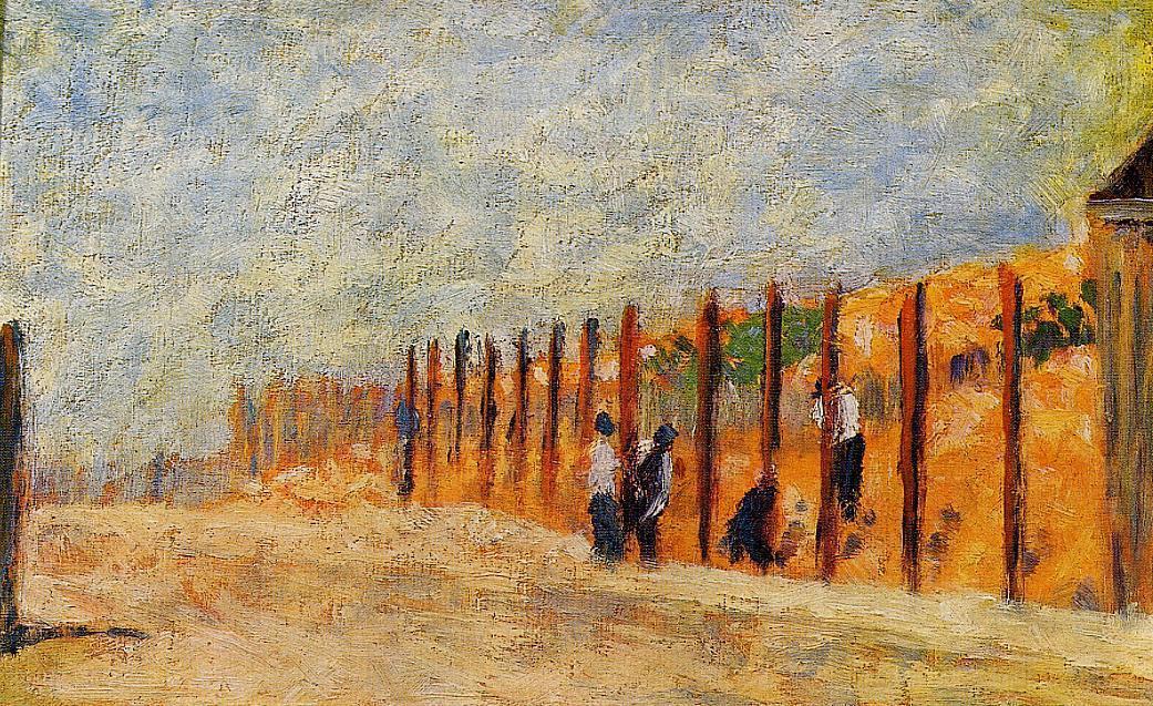 "artist-seurat: "" Peasants Driving Stakes via Georges Seurat Medium: oil on canvas"""