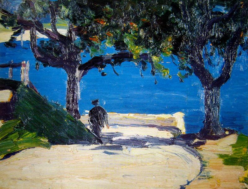 """huariqueje: """" By the Lake Annecy - Ethel Carrick Fox Australian,1872-1952 Oil on board, 16 x 22 cm . """""""