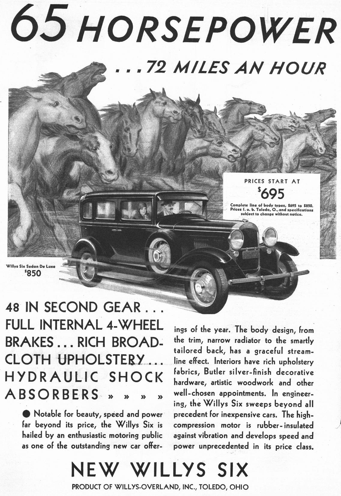 1930 Willys Six Sedan De Luxe