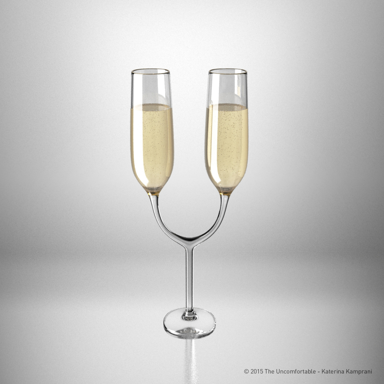 Twin champagne glass © 2016 Katerina Kamprani - all rights reserved