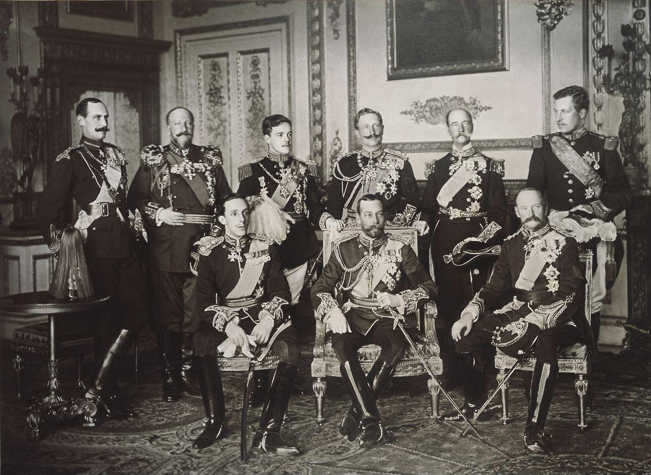Nine kings at the funeral of King Edward VII, photographed on 20 ...