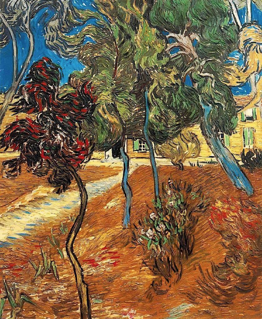 Vincent van Gogh - Trees in the Asylum Garden - 1889