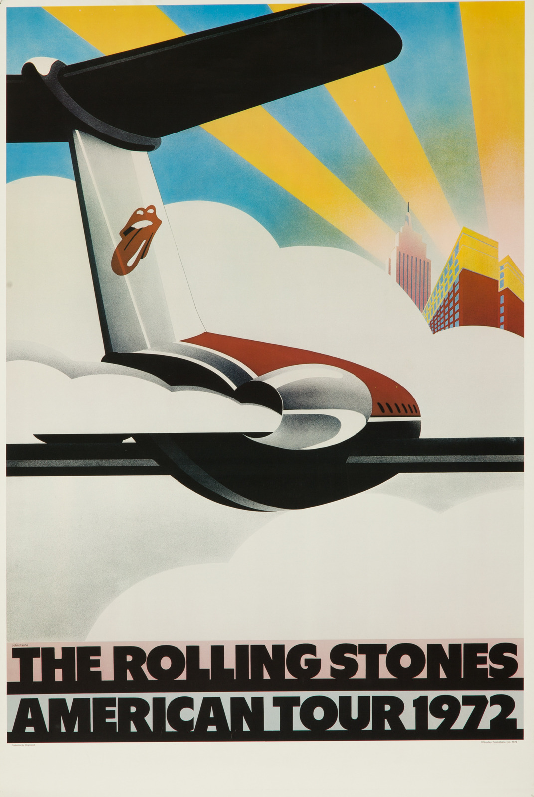 Rolling Stones American Tour 1972 poster
