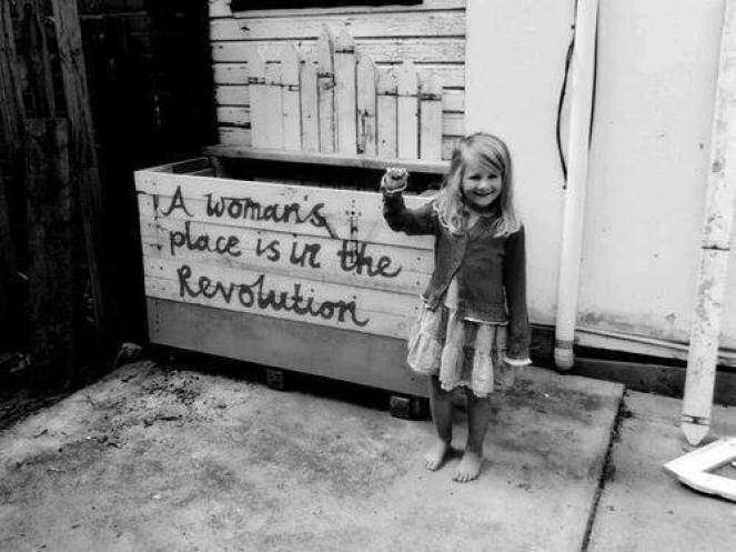 Image result for womans place is in the revolution