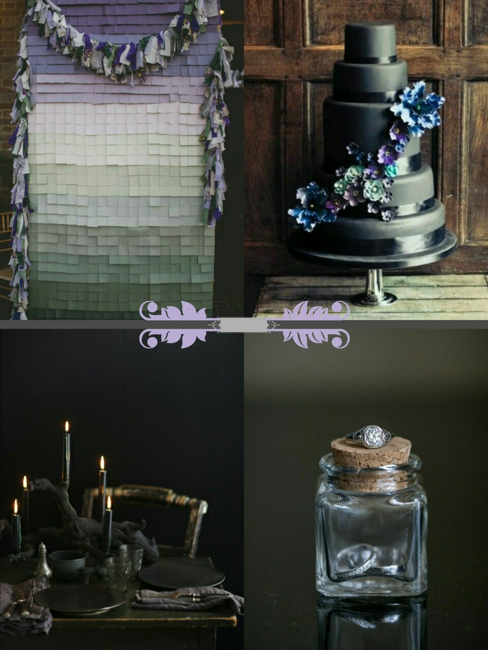 "creepyelegantgothweddings: "" Purple and Black Wedding ideas "" cute"