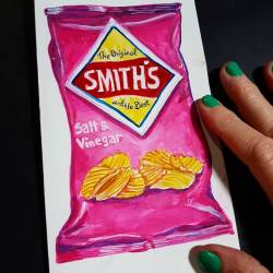 Making a silly birthday card for salt vinegar chip fiends. #art #artshow #exhibition #doodles #drawing #pencildrawing #drawdrawdraw #illustration #perthcreatives #perthartist #gouachepainting #salt&vinegarchips #smithschips #birthdayfeels #artsy #perthpop #perthstagram #doodle #foody #painting #smithscrisps #whimsical