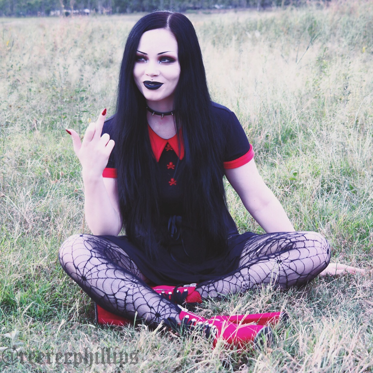 How I feel today. Bleh ☠ Outfit details are on my Instagram (ReeRee Phillips)