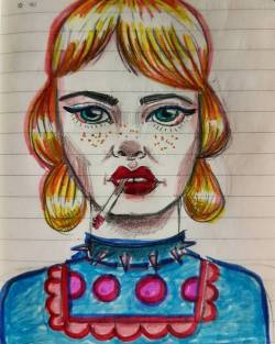 Lonny the zealot #doodle #journal #fluro #patterns #80s #90s #popart #popperth #draw #inkpen #doodlesofinstagram #cartoon #cigarette #smoker #drawdrawdraw #moleskine #art #perthcreatives #perthartist #illustration #inkpendrawing
