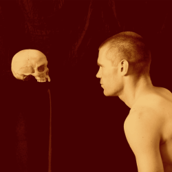 ofleadandlight:Young man and death by Gaston Marie Martin