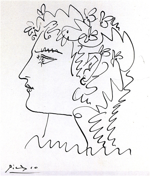 Pablo Picasso Woman in Profile 1952
