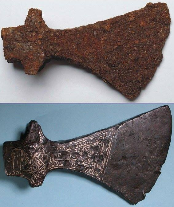 Museum Of Artifacts Axe From Viking Era Before And After