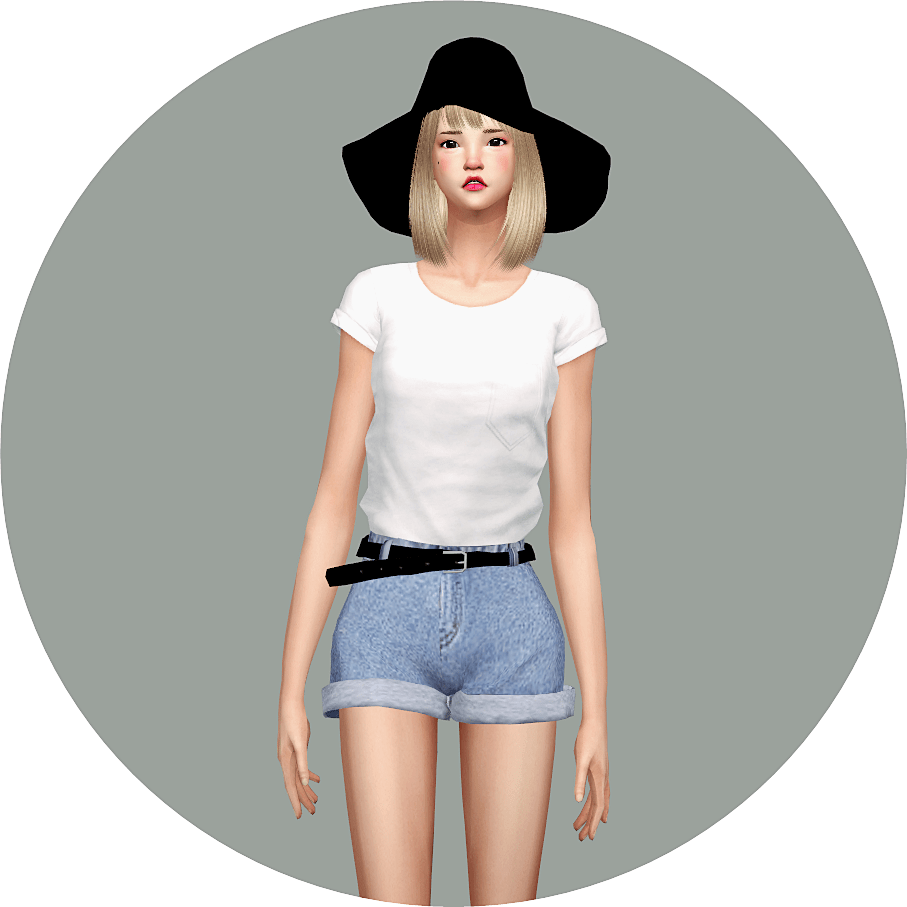 Emily CC Finds - sims4-marigold: Boxy Tee_here Boxy...