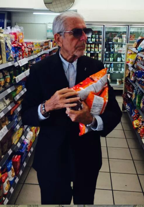 "eye-you: "" Cheetos, candy bars, and Leonard Cohen. """