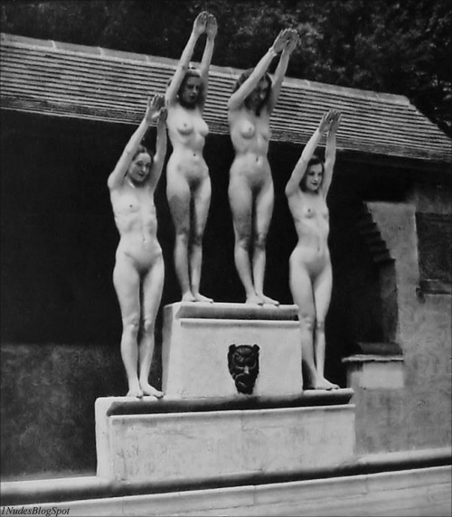 "nudistclassics: ""4 Nudist Girls - Circa 1920′s http://1nudes.blogspot.com/ "" Photo caption contest?"
