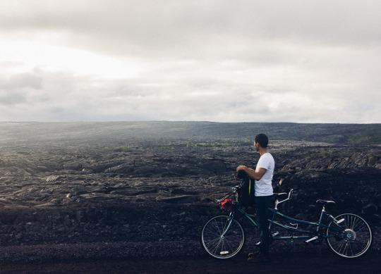 Lava flow sighting in Hilo, Big Island, Hawaii