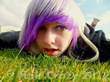 purple and white hair on tumblr