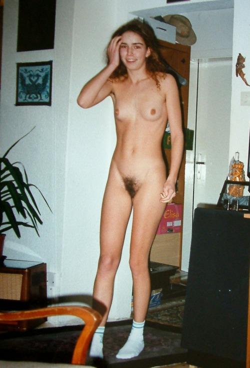 Mom walks around house nude