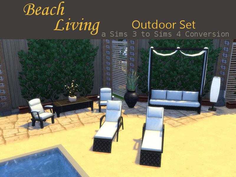 Lana CC Finds - leanderbelgraves: Beach Living Outdoor Set... on Cc Outdoor Living id=59996