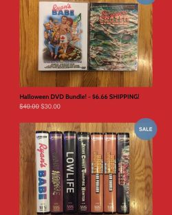 Final day for our #Videonomicon #HalloweenWeekendSale! $6.66 flat rate shipping within Canada and the United States, no matter how many items you order PLUS limited #VHS and #DVD bundle deals! http://store.videonomicon.com
