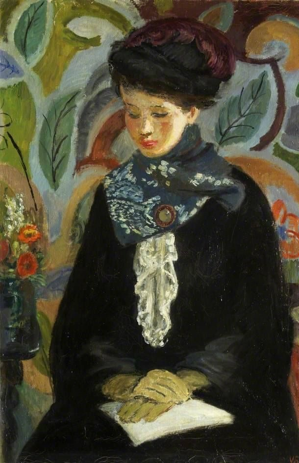"""terminusantequem: """"Vanessa Bell (British, 1879-1961), Lady with a Book, 1945-46. Oil on canvas """""""