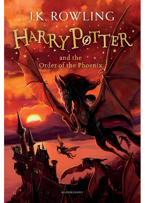 New book cover for Harry Potter and the Order of the Phoenix by Jonny Duddle