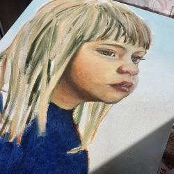 Second weeks worth of work on this new painting of Paige when she was a very cute toddler. Learning loads in a wonderful portrait class being held at the Gary Holland Community ommunity centre in #cityofrockingham by talented art teacher @christine.vandenbergh_artist Lots more layers to go, but she's getting there! .......#art #artshow #perthpop #perthstagram #colour #artistsofinstagram #paintings #oilpainting #perthcreatives #portaiture #wip #artclass #realism   (at Gary Holland Centre)