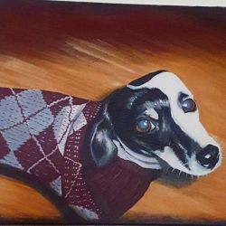 One of my old paintings of a friends doggy. #art #painting #perthartist #artwork # dogs