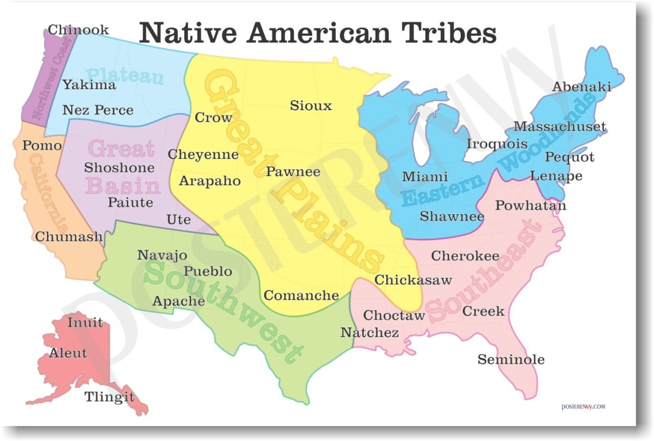 Interesting Maps Native American Tribes Map