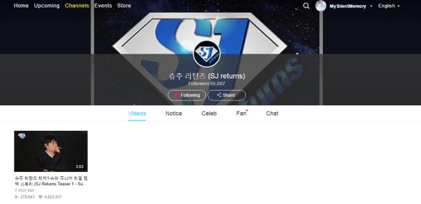 Super Junior Official Vlive channelLink: 슈주 리턴즈 (SJ returns)Log