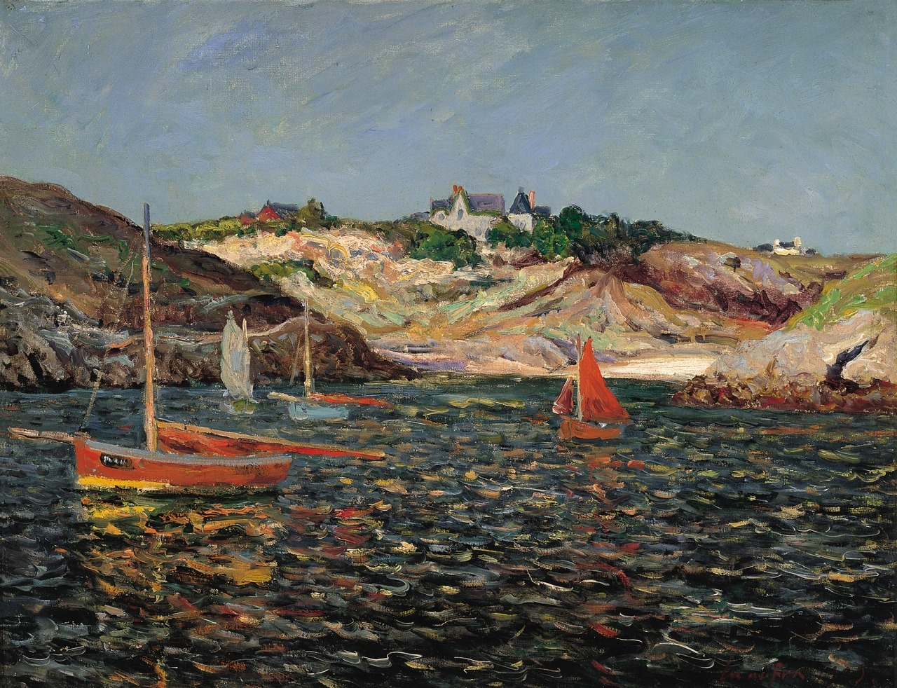 "terminusantequem: ""Maxime Maufra (French, 1861-1918), Entrance to the Port on Port-Goulphar, Belle-Îlle-en-Mer, 1909, Oil on canvas, 51 x 65.5 cm """
