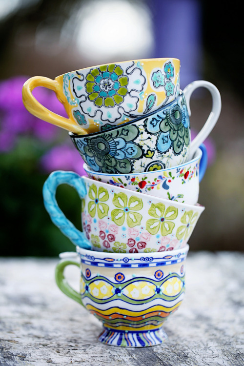 Stacked Tea Cups Tumblr