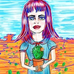 Doodling prickly girls #art #digitalart #drawing #illustration #drawdrawdraw #sketch #doodle #draw #perthartist #mood #perthcreatives #cactus #cartooning